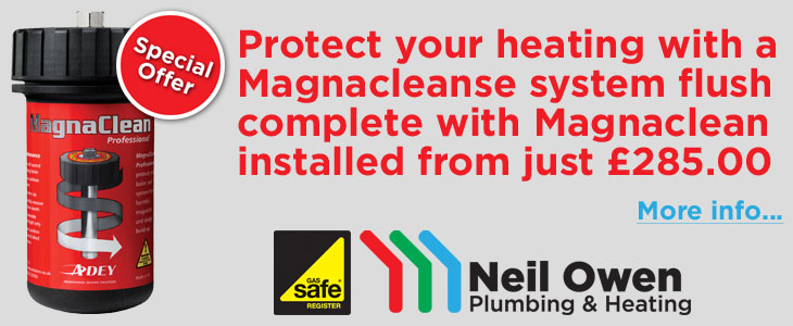 Protect your central heating system with a MagnaClean system filter